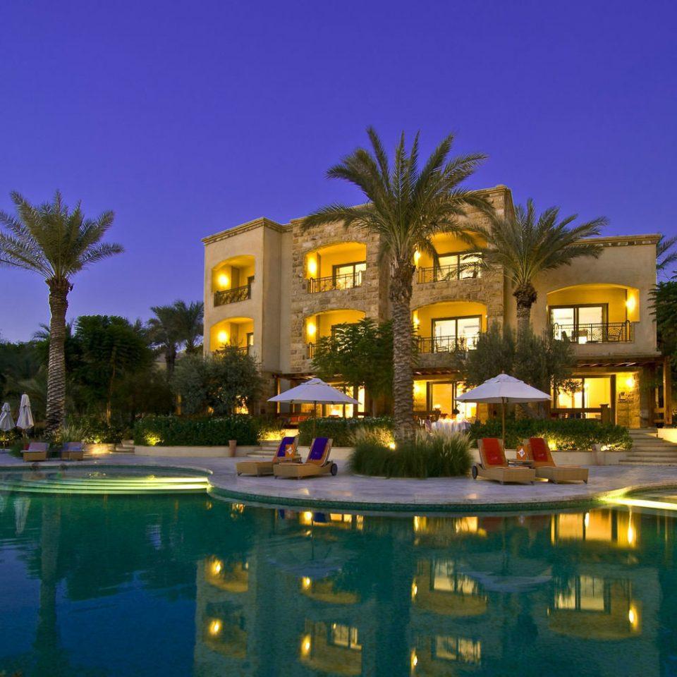 sky swimming pool Resort property condominium building night home light mansion plaza marina landscape lighting