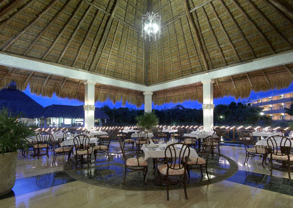 building Resort function hall restaurant convention center lined
