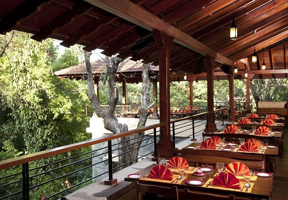 building Resort porch outdoor structure restaurant eco hotel cottage