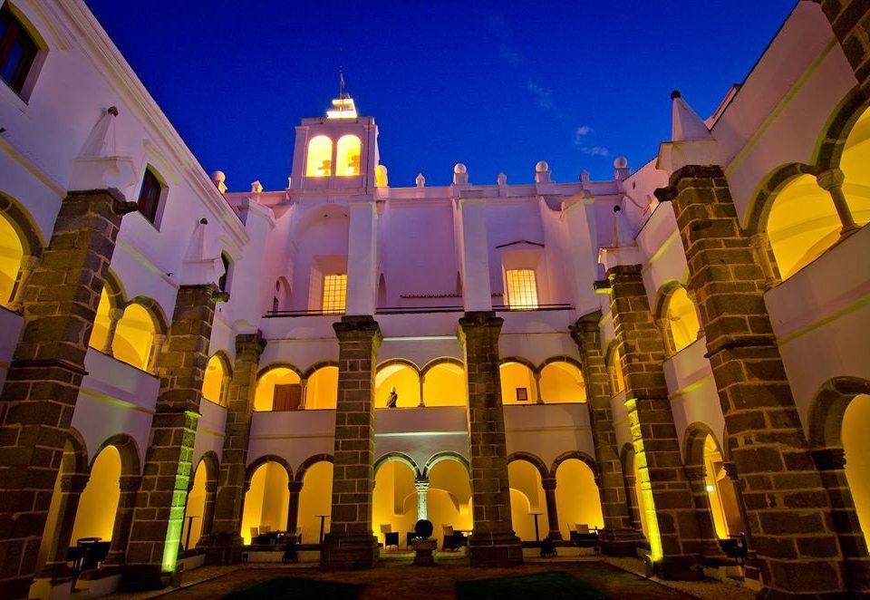 sky landmark building night place of worship evening Resort palace