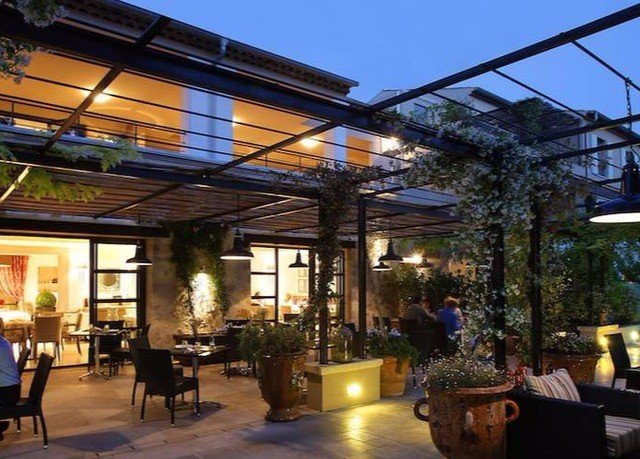 property building plaza restaurant outdoor structure lighting Resort pergola