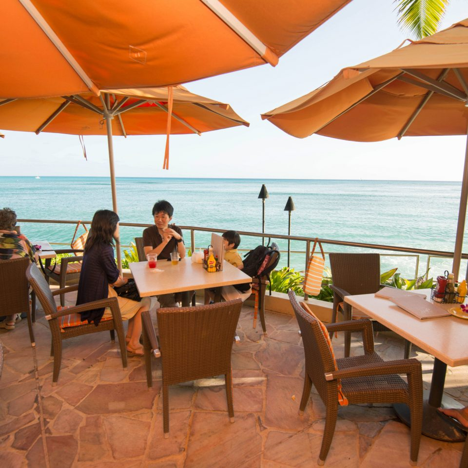 chair umbrella leisure Resort restaurant caribbean set shore day