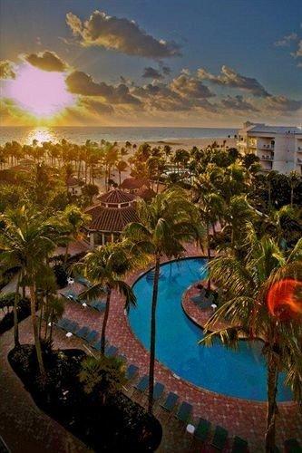 Resort swimming pool caribbean colorful