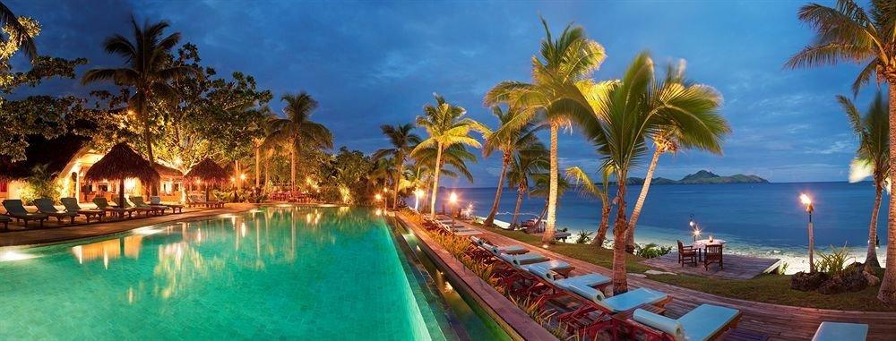 tree water Resort swimming pool caribbean palm resort town lined