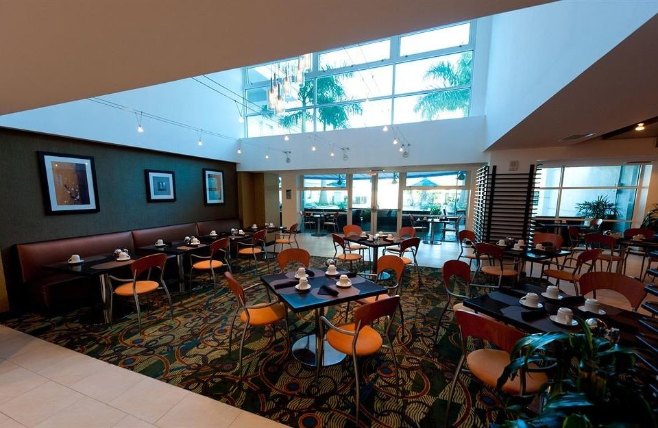 chair convention center conference hall restaurant Resort orange set
