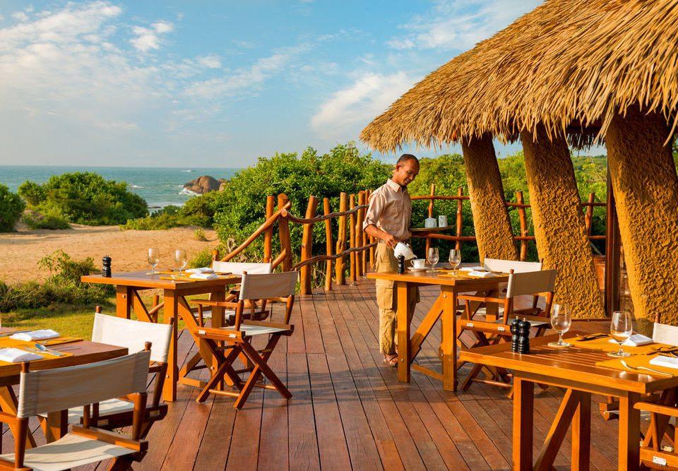chair umbrella leisure Resort restaurant cottage set dining table
