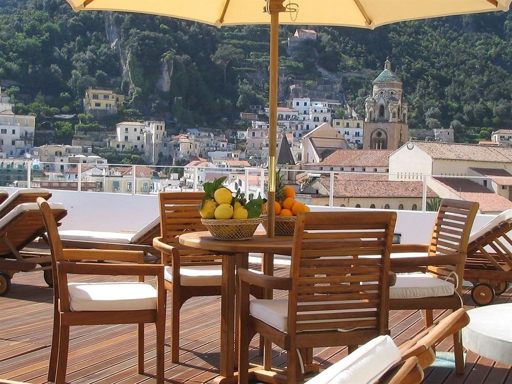 chair property wooden outdoor structure Resort cottage restaurant overlooking