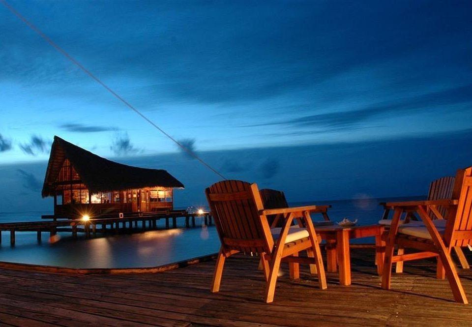 sky chair night evening Resort wooden dusk