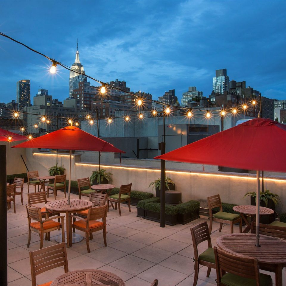 sky chair restaurant evening Resort