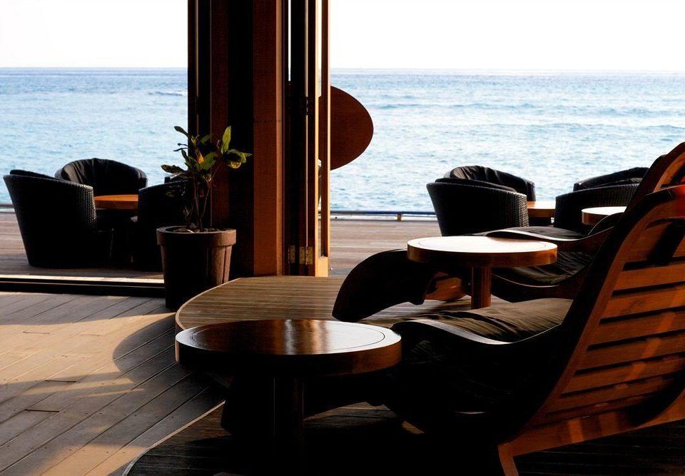 chair Resort overlooking restaurant home yacht living room