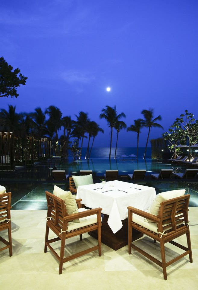 chair lighting Resort swimming pool