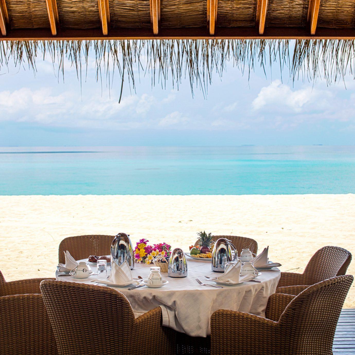 water chair restaurant Resort