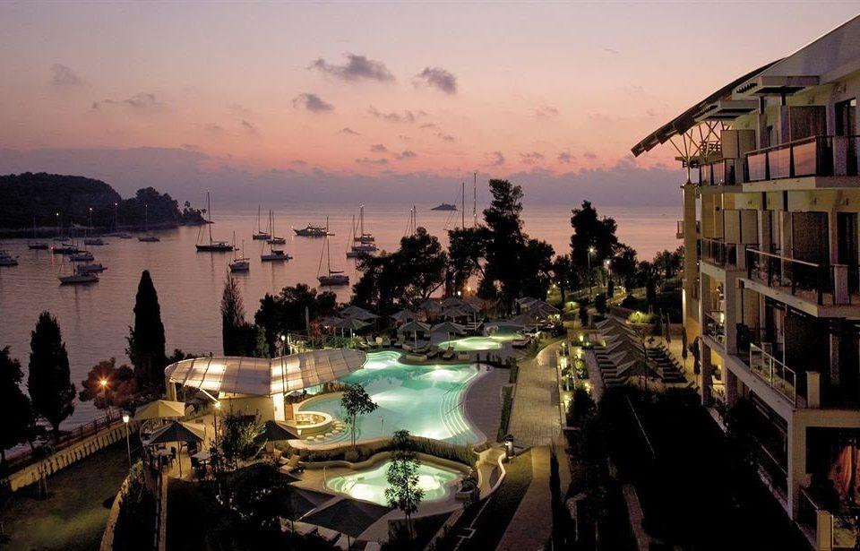 sky evening cityscape dusk marina Resort waterway