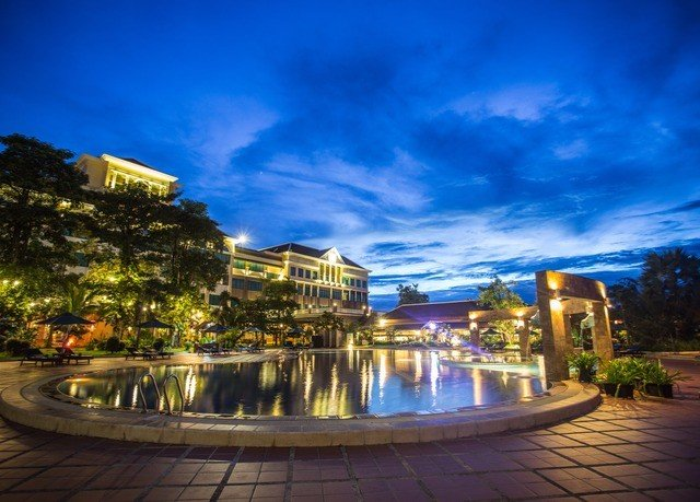 sky landmark swimming pool Resort night cityscape evening dusk plaza palace