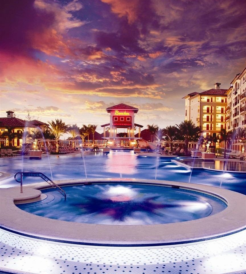 sky swimming pool Resort evening cityscape dusk water feature