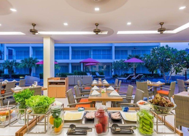property restaurant counter Resort condominium function hall convention center cluttered
