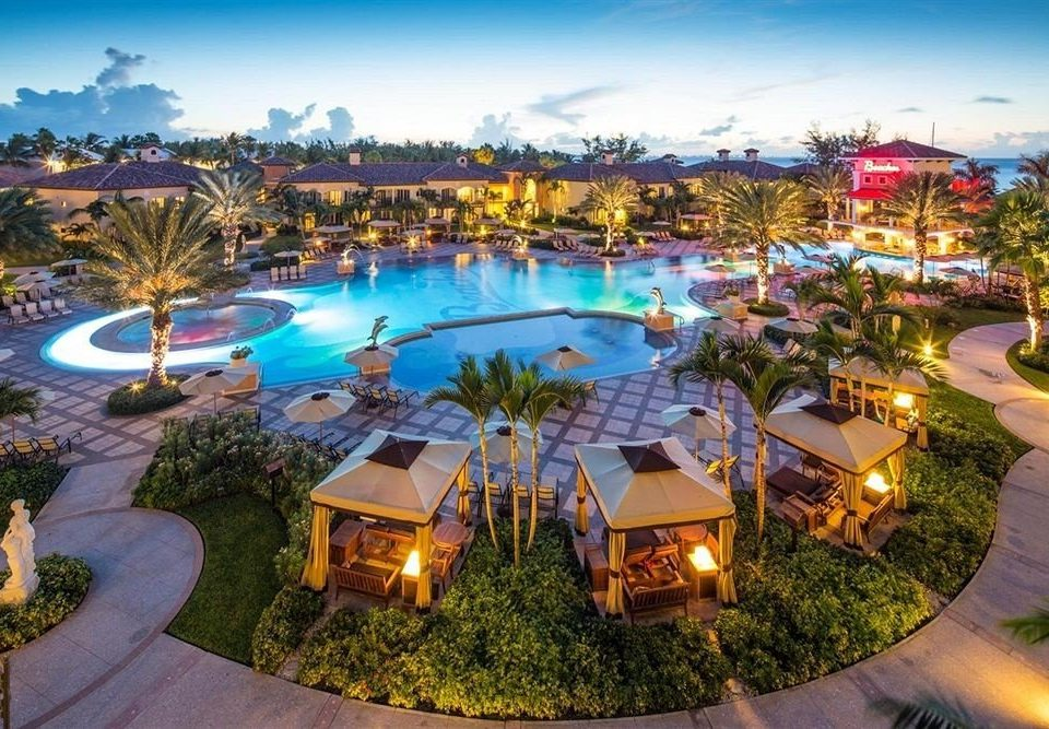 sky grass leisure Resort swimming pool colorful set day