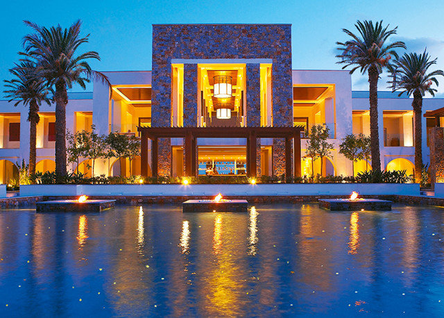 sky water landmark house Resort home palace evening mansion palm colorful