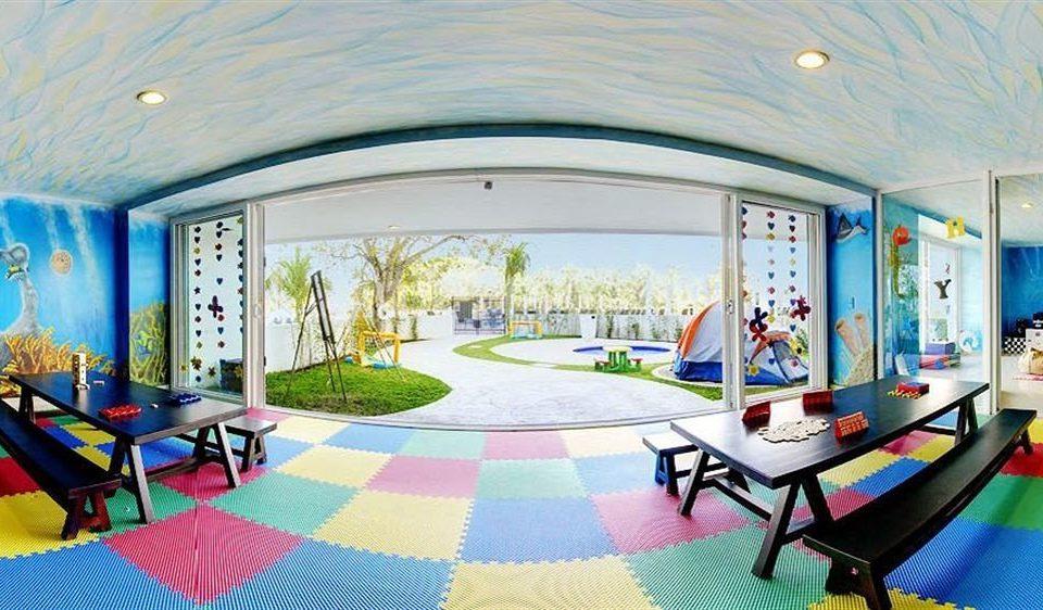 leisure property mural Resort mansion modern art living room colorful