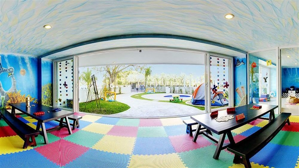 leisure property mural Resort mansion modern art living room colorful