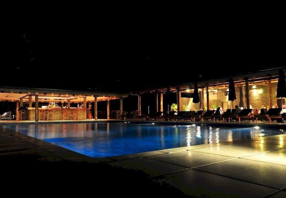water night swimming pool light scene evening lighting plaza convention center Resort