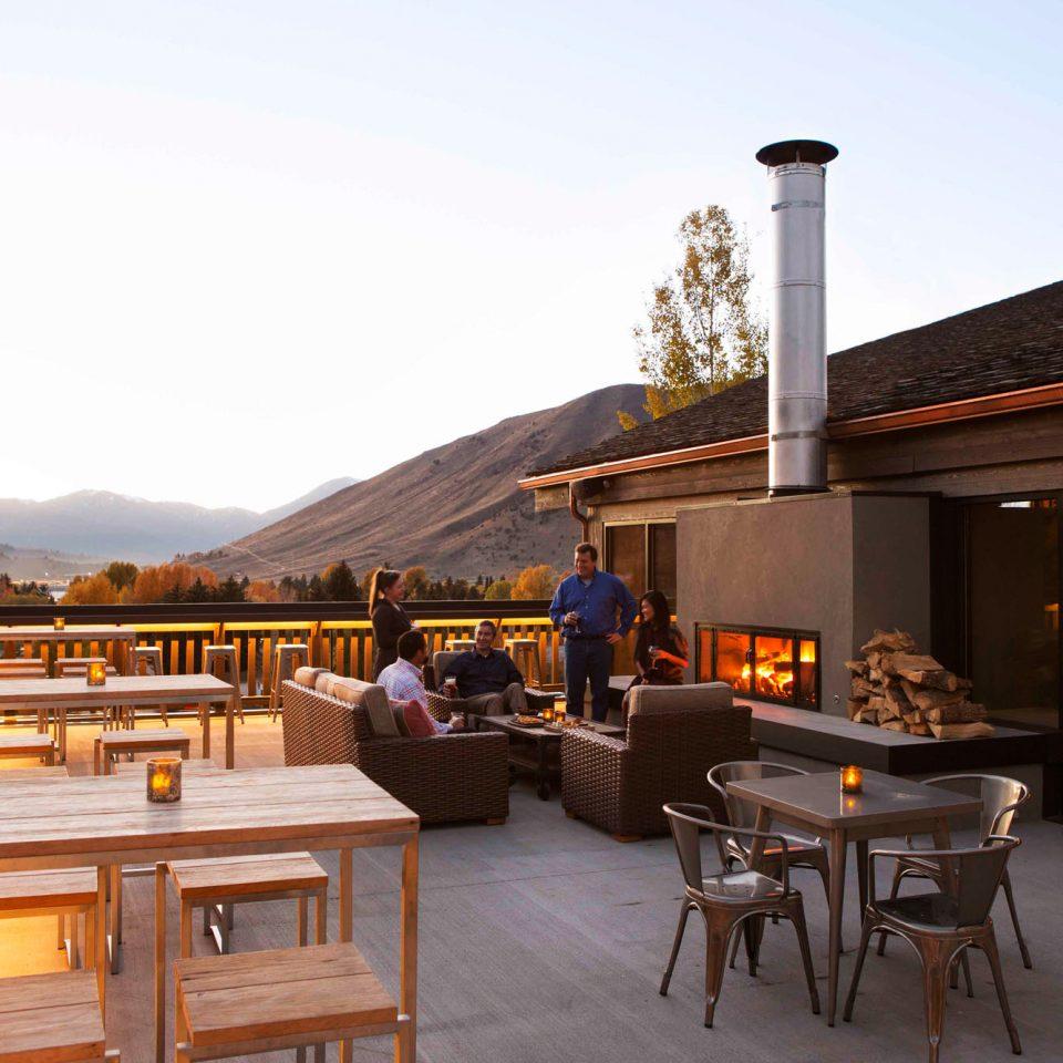 sky house home restaurant cottage outdoor structure Resort log cabin