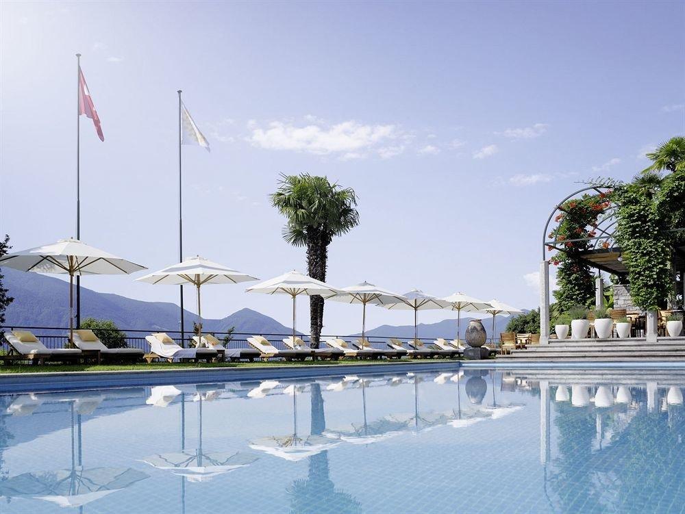 sky marina swimming pool Resort reflecting pool dock sailing vessel day