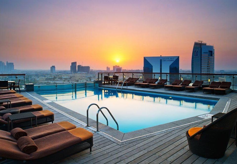 sky swimming pool leisure scene Resort dock overlooking