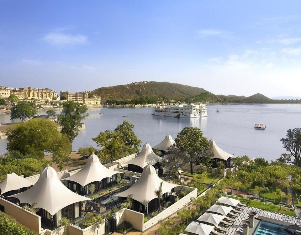 sky tree property Resort marina residential area dock overlooking lush