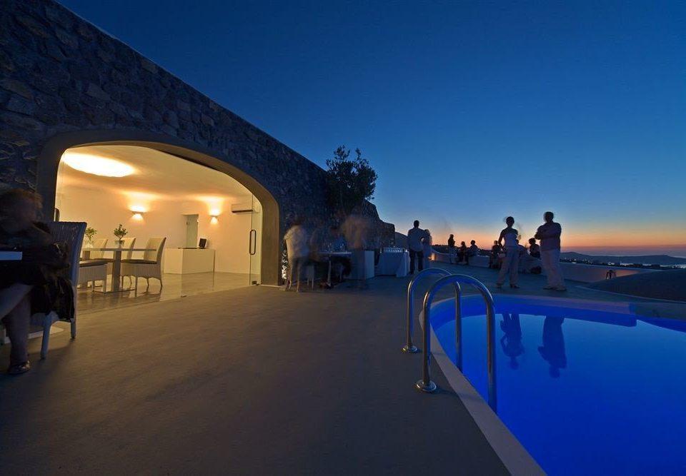 sky night evening swimming pool Resort dusk