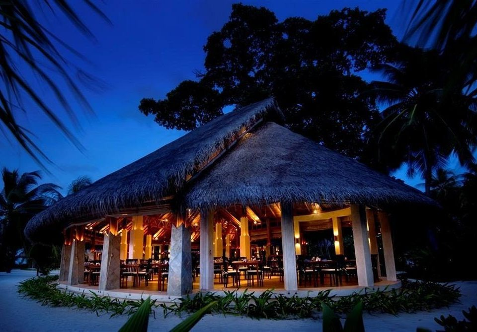 tree house Resort night hut home evening landscape lighting