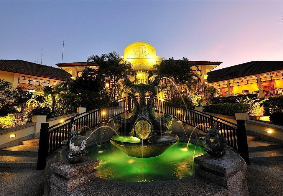 sky Resort night plaza evening lighting
