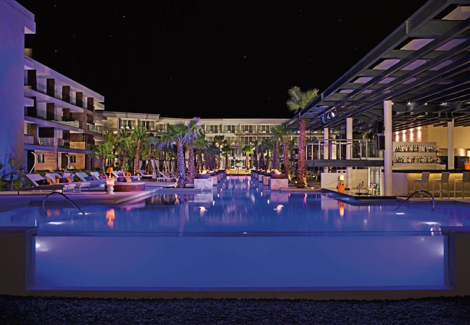night swimming pool lighting evening Resort