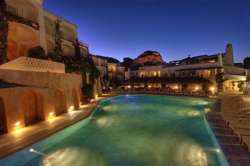 sky swimming pool night Resort thermae evening screenshot mansion