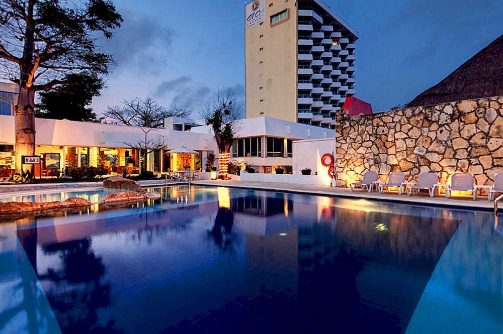 sky swimming pool night Resort plaza evening