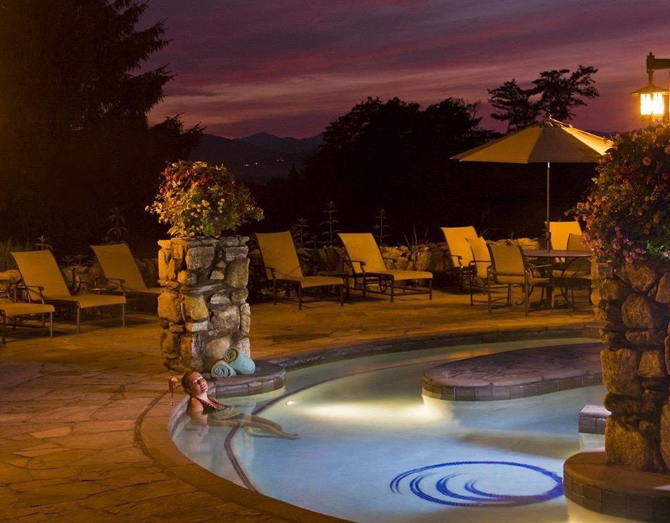 tree night evening screenshot water feature Resort