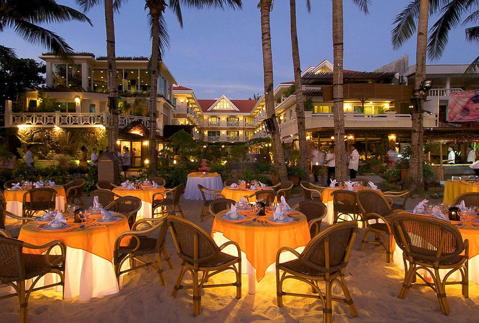 Resort restaurant palace plaza evening