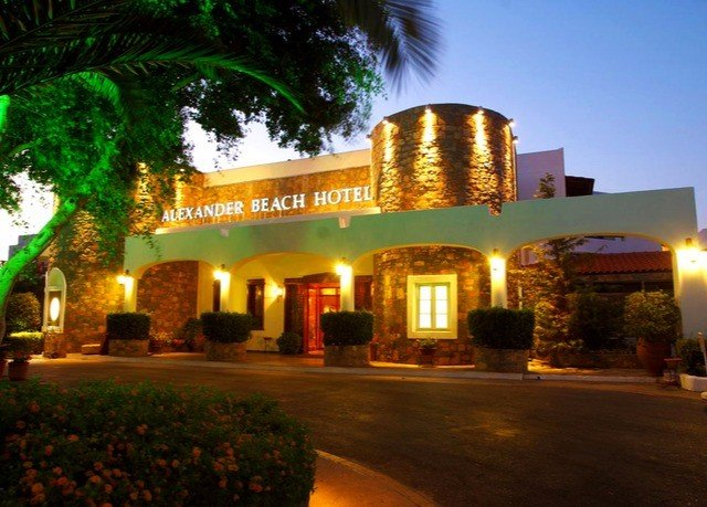tree sky Resort hacienda restaurant light sign