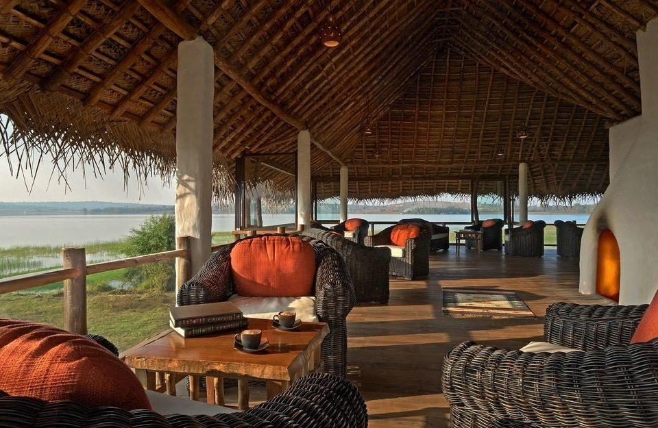 Resort home log cabin restaurant hut