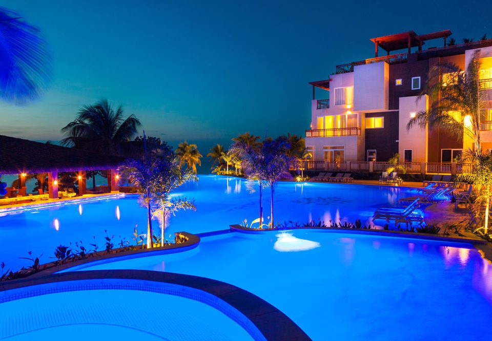 sky swimming pool leisure Resort light night