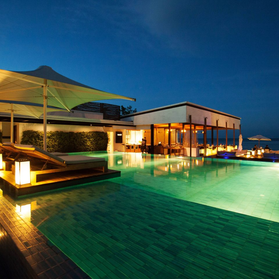 sky swimming pool leisure Resort night lined