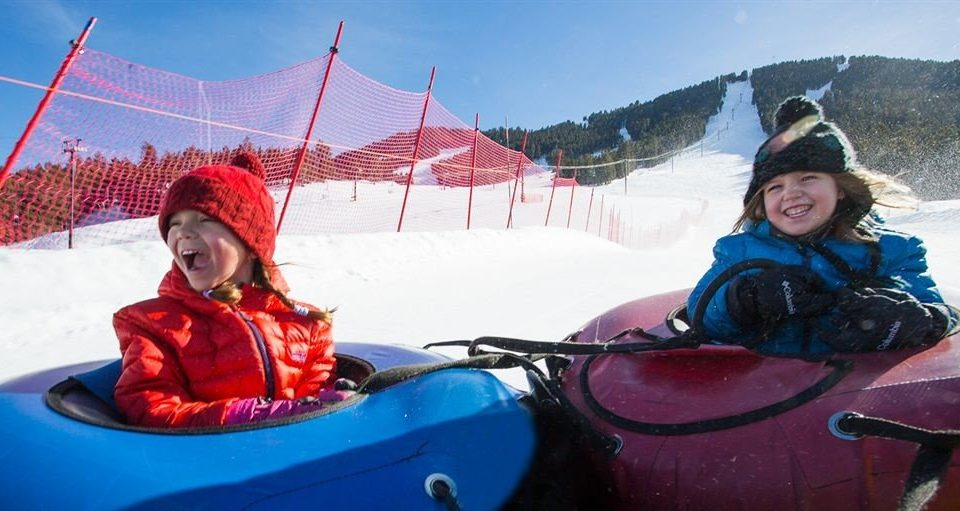 sky leisure mountain red vehicle transport tubing winter sport sports equipment Resort