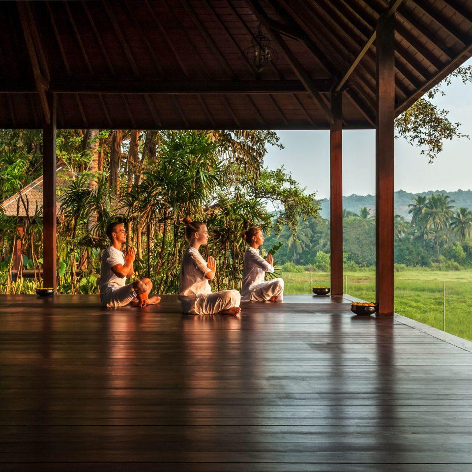 leisure wooden Resort porch