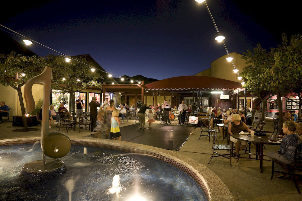 night lighting Resort restaurant