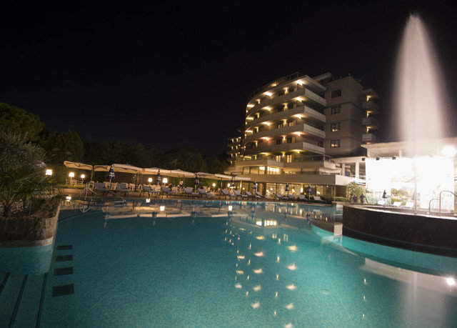 night marina swimming pool Resort