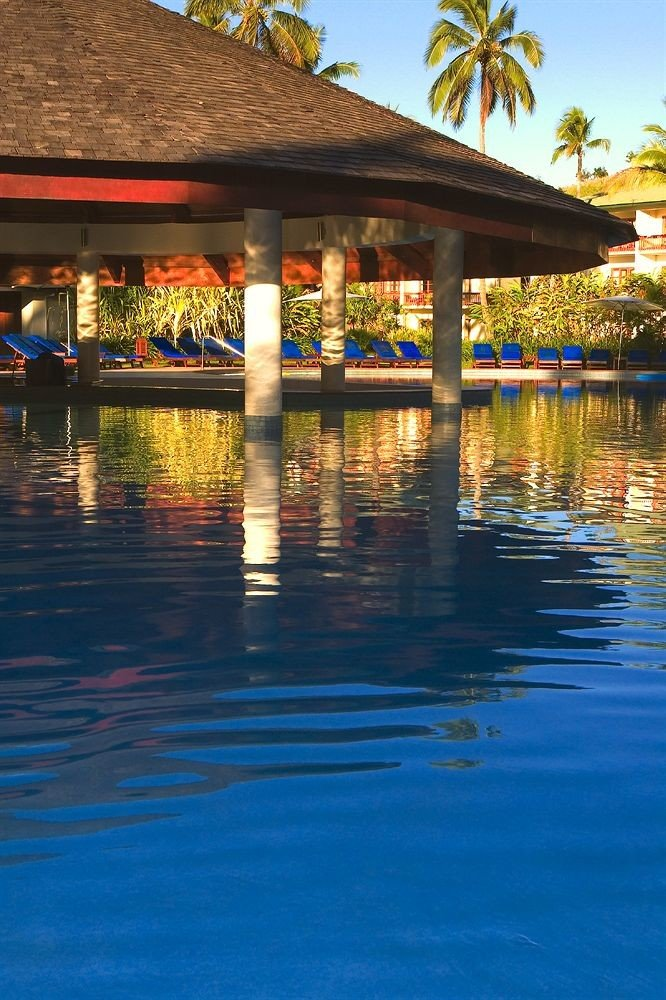 building water swimming pool River Resort evening Sea empty