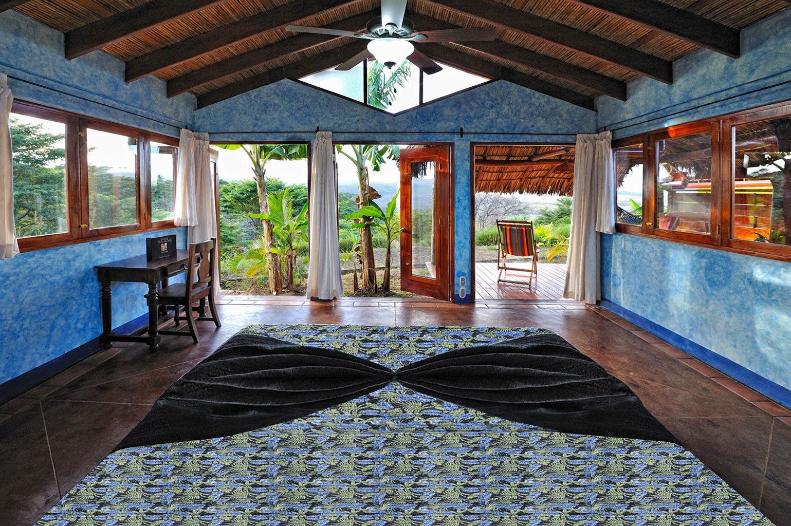 Rustic building property house Resort home porch cottage mansion backyard outdoor structure stone