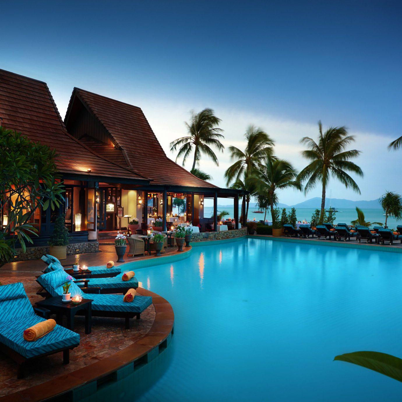 sky water swimming pool leisure Resort palm caribbean Sea arecales
