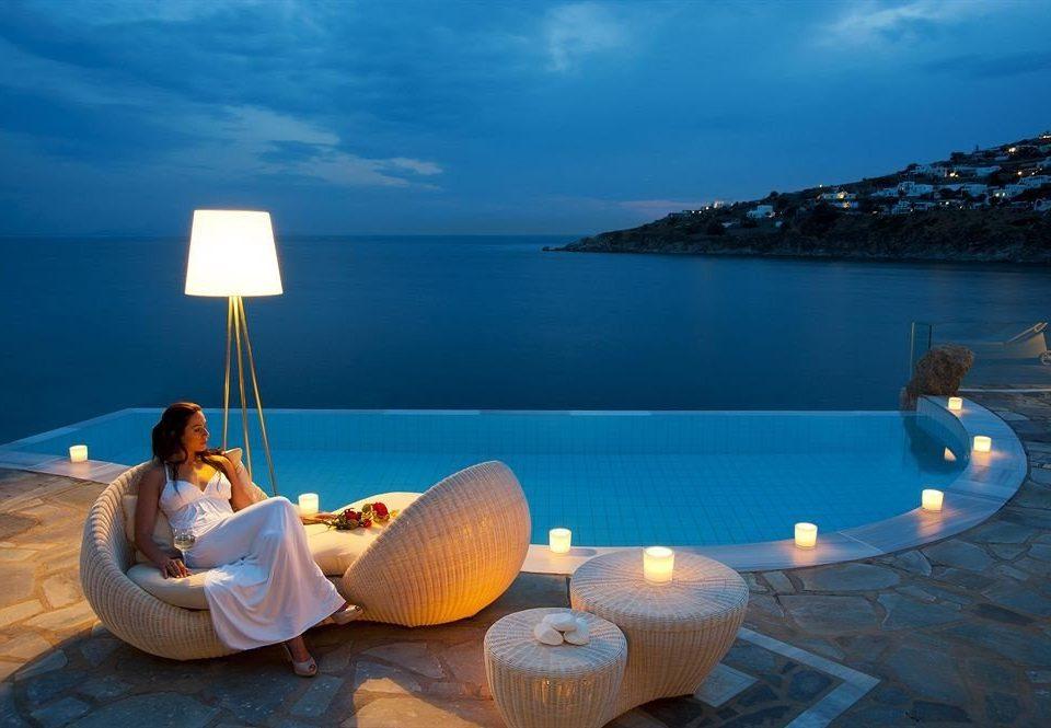 water sky leisure blue swimming pool Sea Resort overlooking