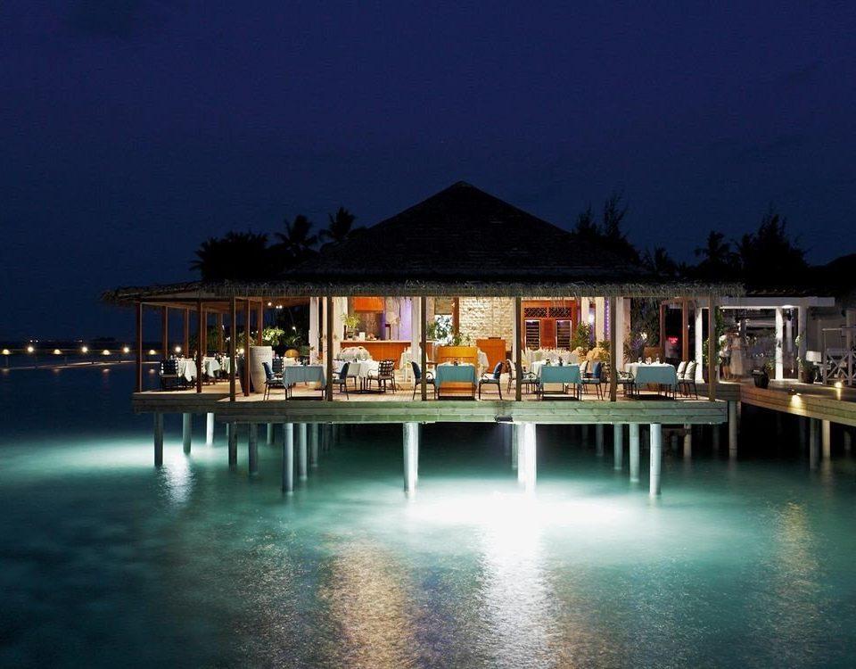 water night Resort Sea evening dock marina dusk